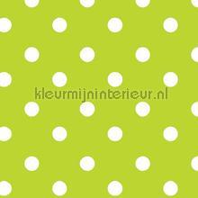Groen met witte stippen tafelzeil Kleurmijninterieur modern