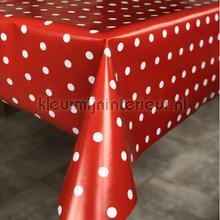 Rood met witte stippen tafelzeil Kleurmijninterieur modern