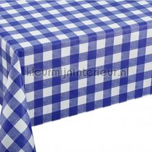 Blauw witte ruiten oilcloth Kleurmijninterieur firkant