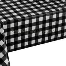 Zwart witte ruiten oilcloth Kleurmijninterieur firkant