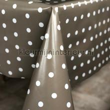Warmgrijs met witte stippen table covering Kleurmijninterieur modern
