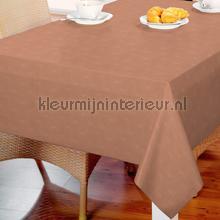 Caramel bruin met kleine ruitjes oilcloth Kleurmijninterieur firkant