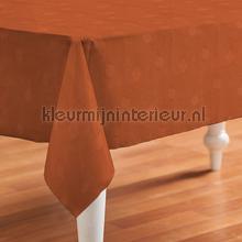 Oranje met kleine ruitjes oilcloth Kleurmijninterieur firkant
