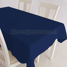 Donkerblauwe uni nappes Kleurmijninterieur couleurs unies