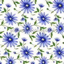 Paarse bloemen transparant oilcloth Kleurmijninterieur uni farver