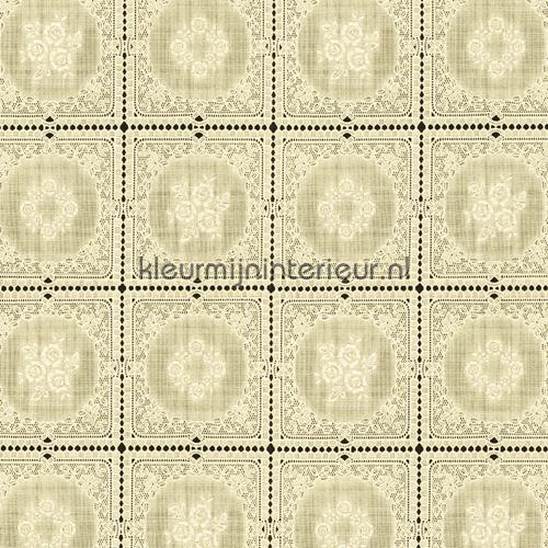 Tafelloper oilcloth fl2813 kniplinger Via Chasse