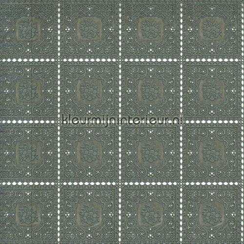 Tafelloper grijs oilcloth fl2814 Kniplinger - Xmas Via Chasse