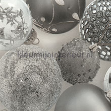 Tafelzeil kerstballen zilver table covering DC-Fix all images