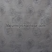Zwarte bloemen tafelzeil modern