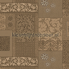 Klassiek patchwork bruintinten tafelzeil D&B dessins