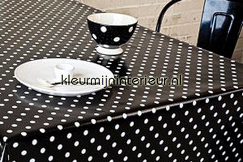 Polkadot - zwart wit oilcloth 150-041 moderne Patifix