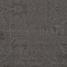 Bladeren - zwart glanzend tafelzeil Dutch Wallcoverings uni kleuren