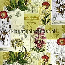Wild Flower oilcloth Prestigious Textiles blomster