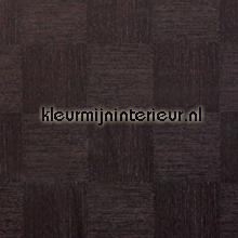 Textiel kwaliteit zwart-bruin schakering oilcloth firkant