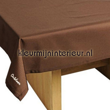St. Tropez tafelkleed bruin table covering Blyco wood