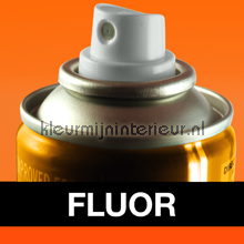 Spuitbus fluor oranje autolak Motip fluor verf