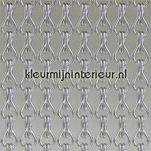 Kleine schakels zilver fliegenvorhang uni