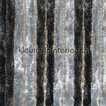 Kattestaart zwart grijs om en om cortinas de tiras tiras de PVC