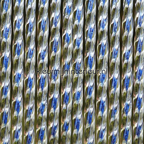 lucca blauw transparant rideaux de porte synthetic thread