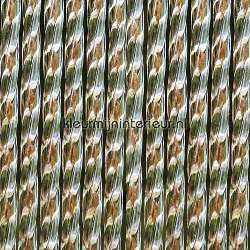 lucca bruin transparant rideaux de porte synthetic thread