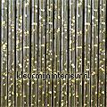 como goud transparant synthetic thread fly curtains ready made