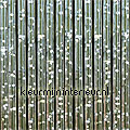 como zilver transparant synthetic thread fly curtains ready made
