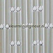 Grijs metallic verspringend fly curtains wood look