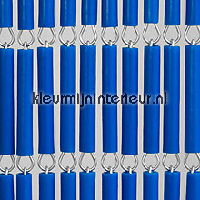 Blauw recht fly curtains wood look