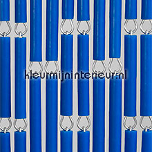 Blauw fly curtains wood look