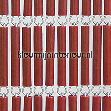 Bordeaux recht fly curtains wood look