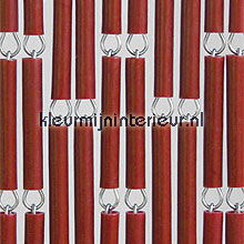 Bordeaux fly curtains wood look