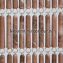 Bruin gevlamd recht fly curtains wood look