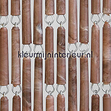 Bruin gevlamd fly curtains wood look