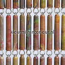 Tropical recht fly curtains wood look