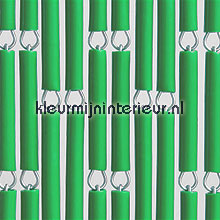 Groen fly curtains wood look
