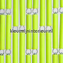 Lime verspringend fly curtains wood look