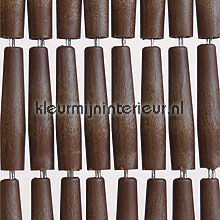 Luxe donkerbruin recht fly curtains wood look