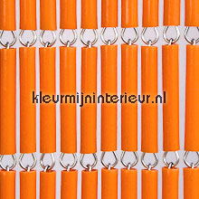 Oranje recht fly curtains wood look