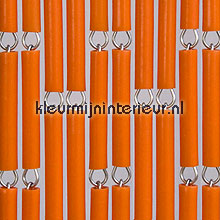 Oranje fly curtains wood look