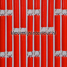 Rood fly curtains wood look