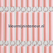 Roze recht fly curtains wood look