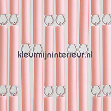 Roze fly curtains wood look
