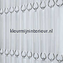 Transparant recht fly curtains wood look