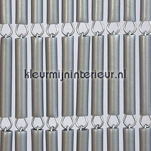 Zilvergrijs recht fly curtains wood look
