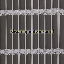 Halve hulzen antraciet fly curtains wood look