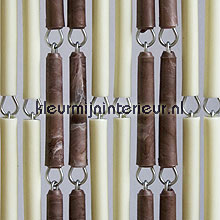 Creme bruin gevlamd fly curtains wood look
