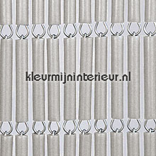 Grijs metallic recht fly curtains wood look