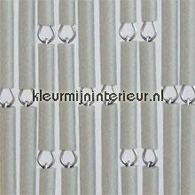 Grijs metallic verspringend vliegengordijnen Kunststof huls Uni