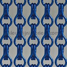 Aluminium donkerblauw cortinas de tiras tiras de PVC