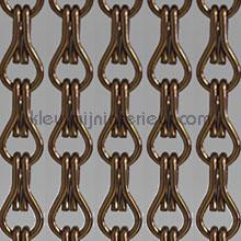 Aluminium bruin cortinas antimoscas pvc lamel